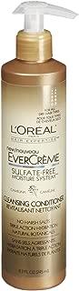 L'Oreal Paris EverCreme Sulfate-Free Moisture System Cleansing Conditioner, Camelina, 8.3 fl. Oz.