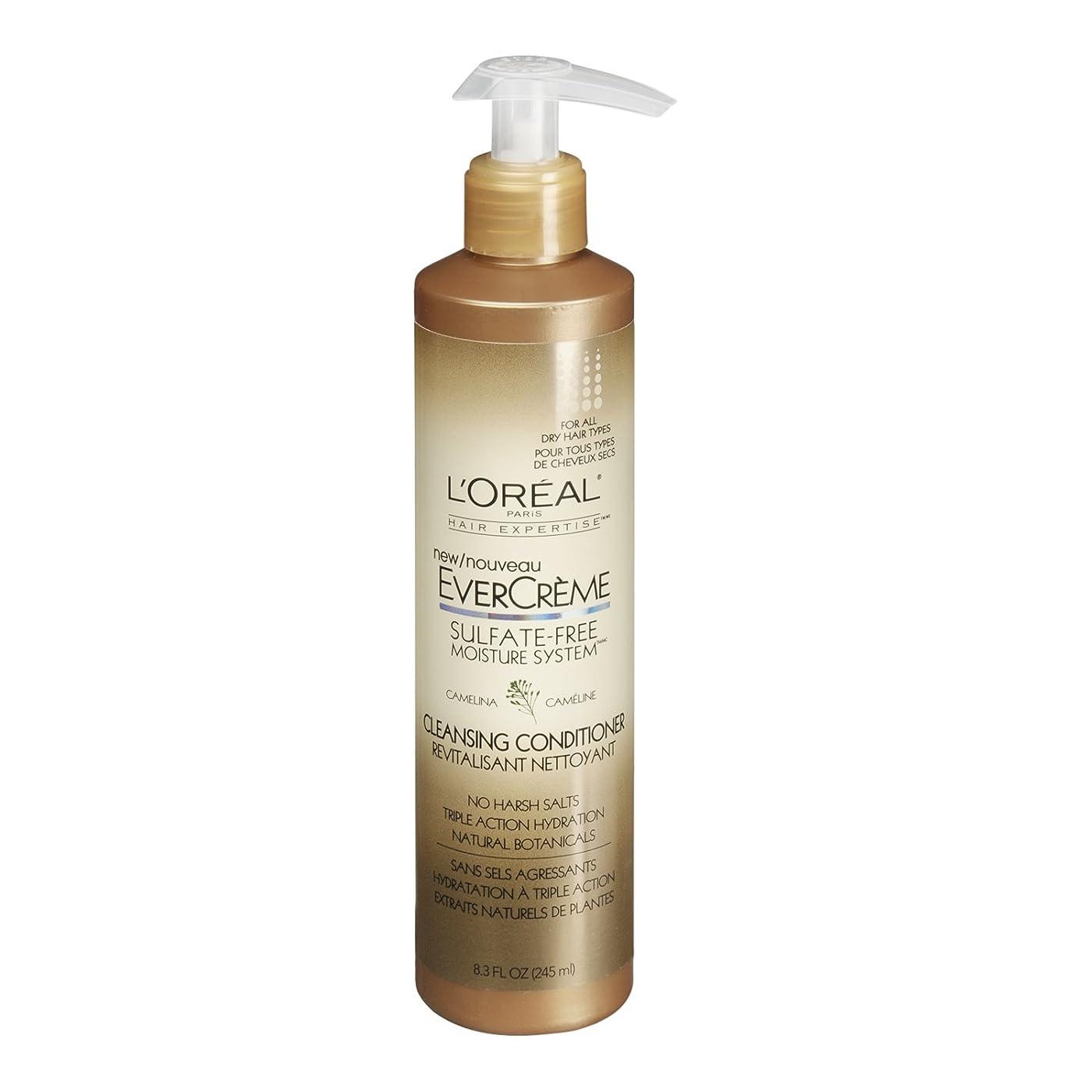 現在涙が出るで出来ているL'Oreal Paris EverCreme Sulfate-Free Moisture System Cleansing Conditioner, 8.3 fl. Oz. by L'Oreal Paris Hair Care [並行輸入品]
