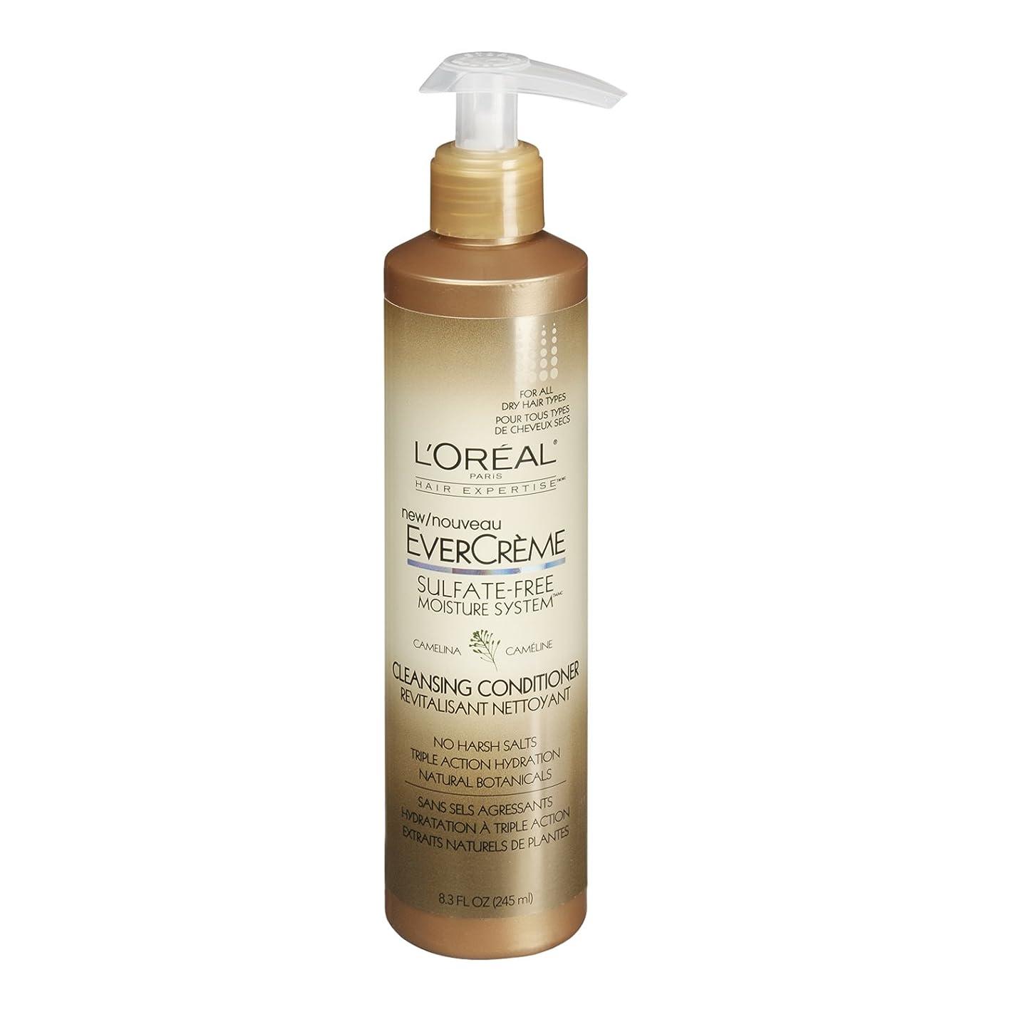 プロット郵便犯罪L'Oreal Paris EverCreme Sulfate-Free Moisture System Cleansing Conditioner, 8.3 fl. Oz. by L'Oreal Paris Hair Care [並行輸入品]