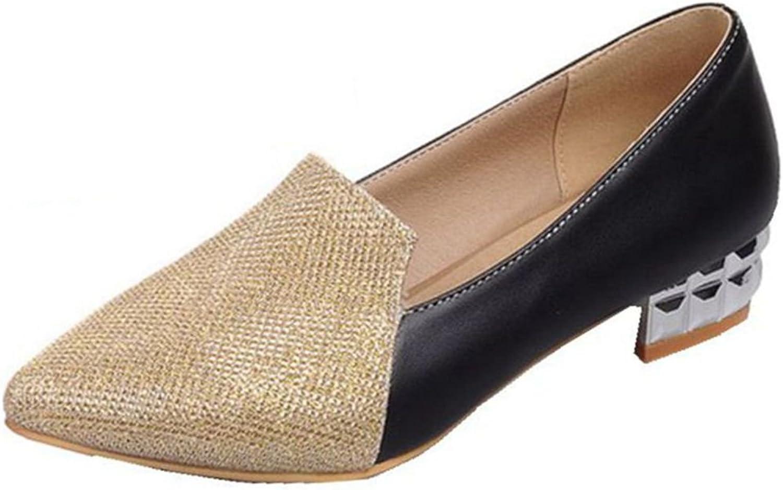 Kaloosh Women's Comfortable Pointed Toe Glitter Mixed colors Low Heels Liesure Flats