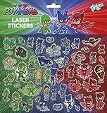 PJ Masks Pyjamahelden Catboy, Owlette und Gekko Laser-Stickerbogen mit über 40 Laserstickern, Aufklebern, bunt – TM Essentials 320055 -