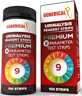 9 Parameter Premium Urinalysis Test Strips for UTI, Ketones, pH, Protein, Blood, Kidney, Liver Problems | FDA Approved| (100 Strips) Detailed Instructions |Measure Ketones & More | Accurate, Res