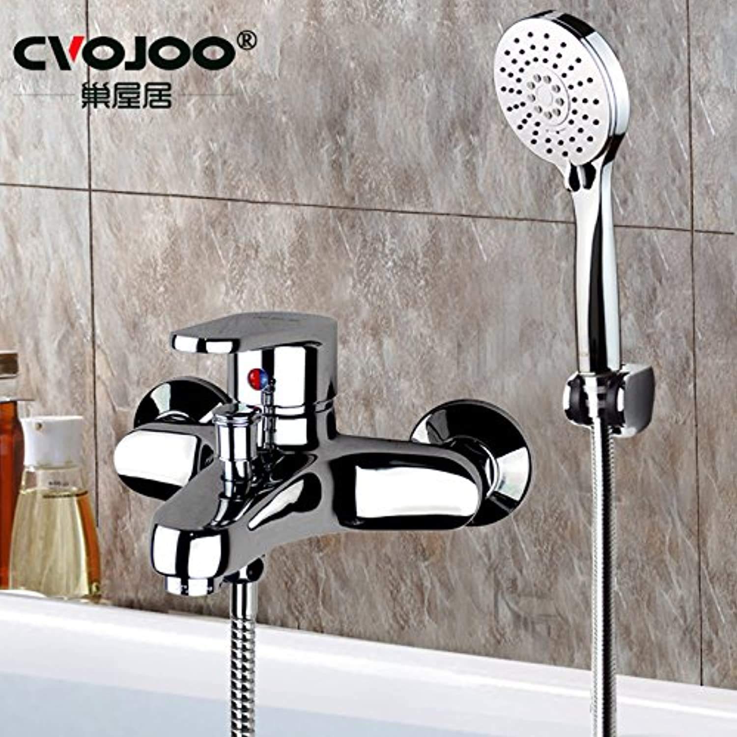 Hlluya Professional Sink Mixer Tap Kitchen Faucet The bathroom shower faucet full copper hot and cold water shower Kit Shower Water mixing valve pressure sprinklers, Kit