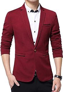 BOZEVON Men Casual Suits - Business Blazer Coat Single Breasted Chic Coat Long Sleeve Tops Winter Slim Fit Gentleman Jacket