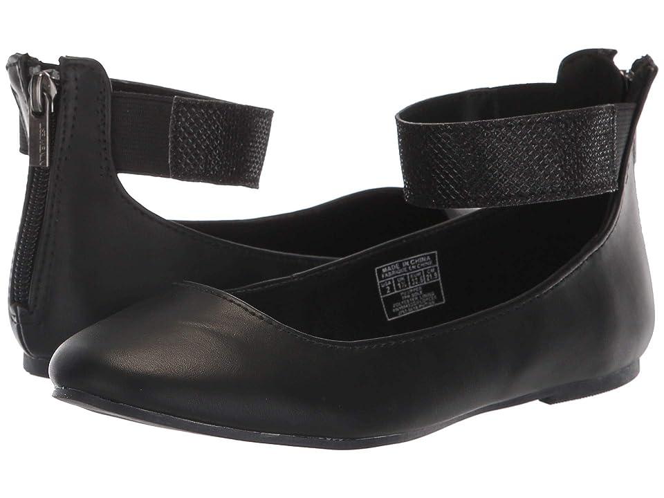 Nine West Kids Floycee (Little Kid/Big Kid) (Black Smooth/Glitter Ankle Wrap) Girls Shoes