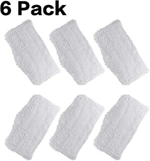 FutureWay Steam Mop Replacement Pads for Shark S3101, S3251, Washable Cleaning Pads for Shark Steam Cleaner(6-Pack)