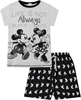Disney Minnie and Mickey Ladies Life is Not Always Black and White Short Pyjamas