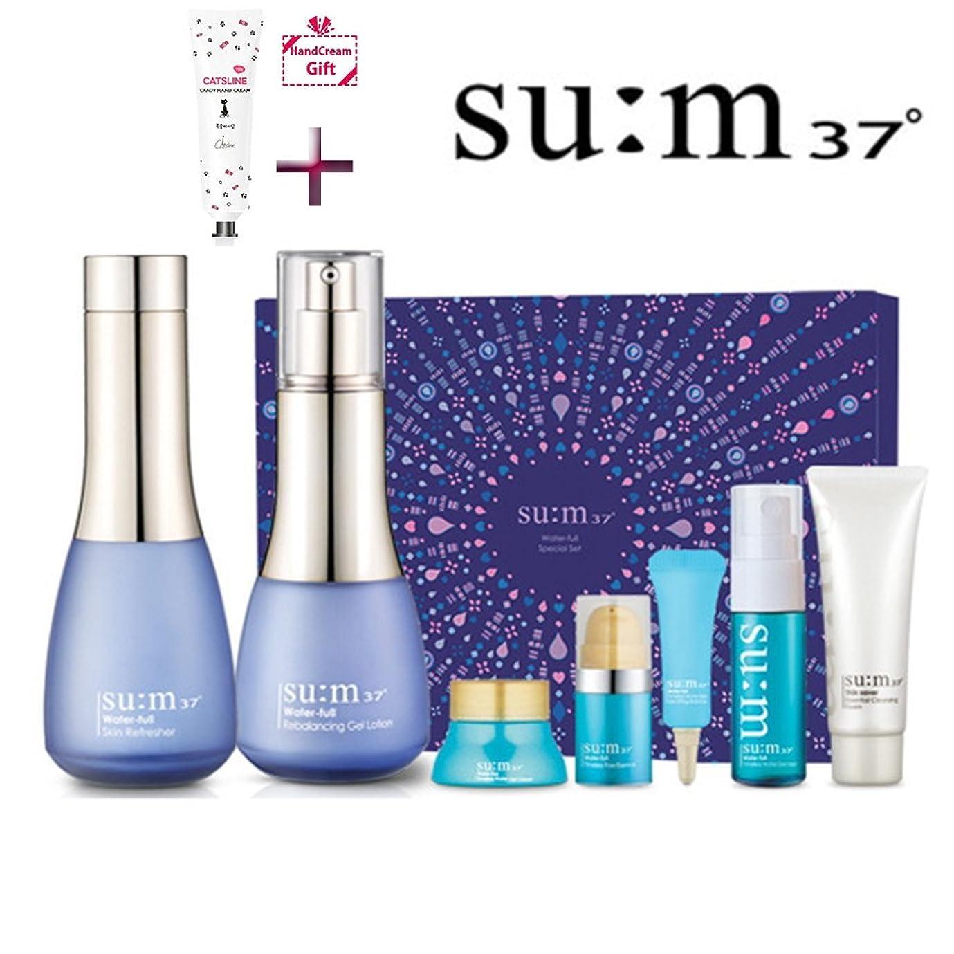 限られた不変生き残り[su:m37/スム37°] Sum37 Water full 2 Piece Special Set / SUM37 ?スム37 ウォーターフルスキン+ジェルローション 2種 +[Sample Gift](海外直送品)