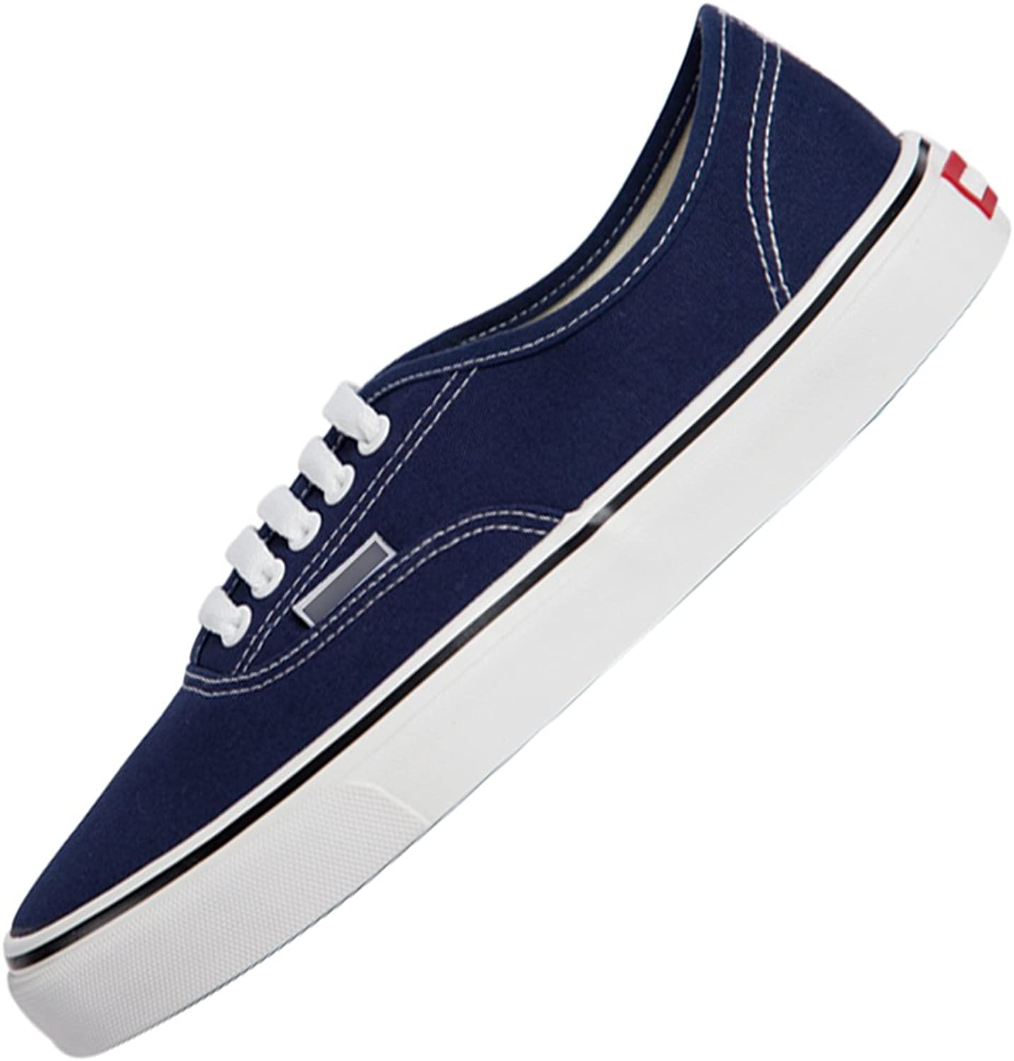 YaNanHome Canvas shoe Boat shoes Canvas shoes men's shoes spring low to help Korean style casual shoes flat floor board shoes (color   bluee, Size   41)
