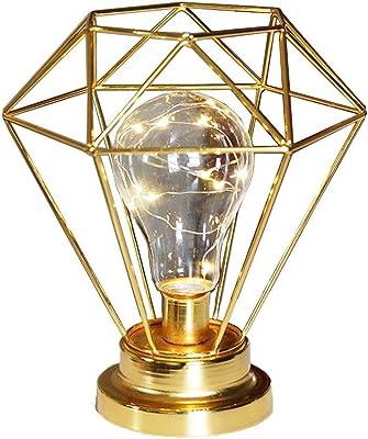Lampe Fleur H52cm Eisen lackiert (2 fach sortiert