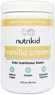 Kids Protein Shake - Nutritional Vanilla Superfood Powder With Essential Vitamins, Fiber & Digestive Enzymes - Toddler Nutrition Drink - Boost Growth, Bone Health & Brain Development - 12.13oz
