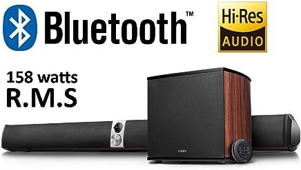 Edifier S70DB Sistema de barra de sonido y subwoofer con audio de alta resolución con Bluetooth, entrada óptica, coaxial, entrada de línea y entrada auxiliar