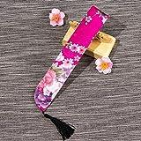 Bolsa de abanico de mano plegable de estilo chino Bolsa de abanico de mano de estilo vintage Cubierta decorativa de artesanías elegante para ventilador de 19-23 cm, rosa roja