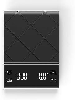 MHBY Balance de cuisine, affichage LCD, balance à café électronique, expresso et minuterie d'équilibrage du poids d'eau, b...