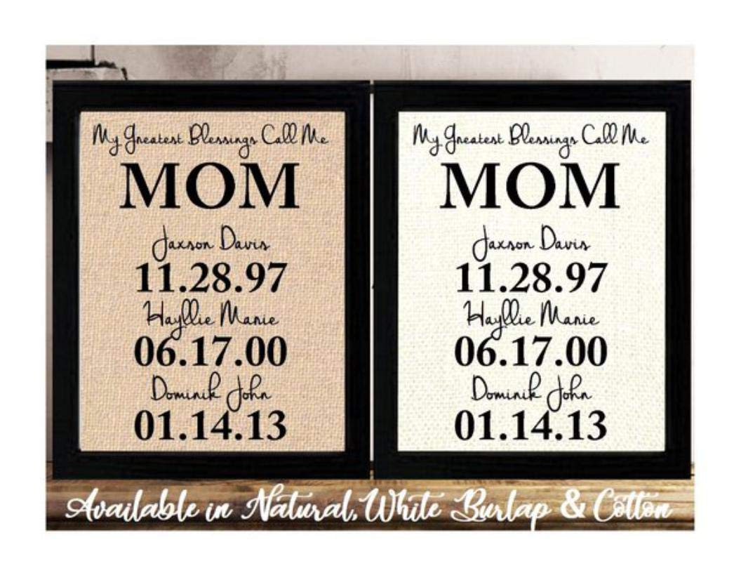 Personalized Mothers Day Gift for gift Albuquerque Max 47% OFF Mall Bur Mom Birthday