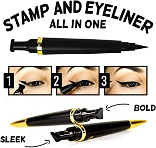 Cleopatra Cat Eye Stamp (Bold) – Double-sided Winged Eyeliner Stamp Pen | Waterproof, Smudge Proof, and Long Lasting | Dermatologist Formulated, Tested, and Approved | Cruelty Free