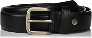 Men's Black Leather Money Belt Sizes 32 Through 64