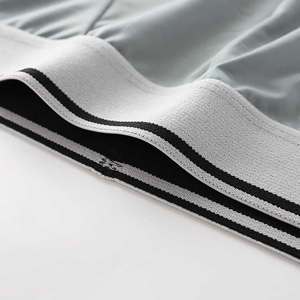 GBIUN Men's Briefs Ice Silk Breathable Bamboo Fiber Men's Plus Size Shorts Pack of 5