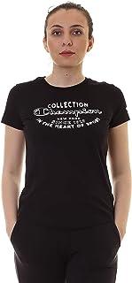 Champion 111438 KK001NBK Women's Crew Neck T-Shirt, Large, Black