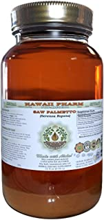 Saw Palmetto Alcohol-Free Liquid Extract, Organic Saw Palmetto (Serenoa Repens) Dried Berry Glycerite Natural Herbal Supplement, Hawaii Pharm, USA 32 fl.oz