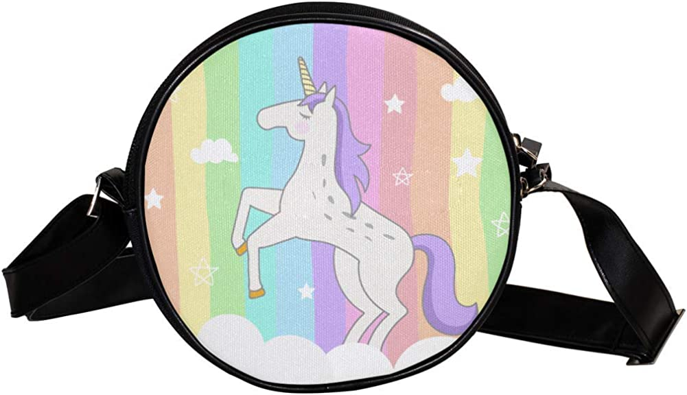 outlet Coin Purse For Kids Rainbow White B Mini New popularity Cloud Unicorn Crossbody