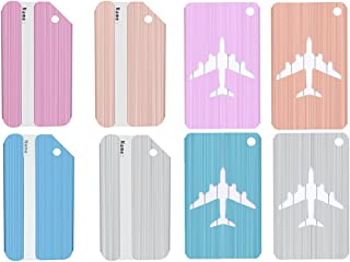 Aluminum Luggage Tags for Baggage Suitcase Bags, Set of 8