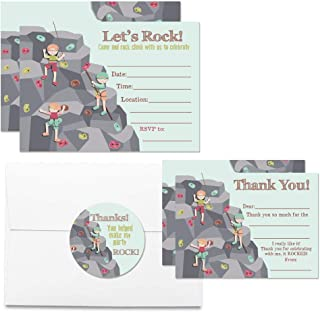 Deluxe Rock Climbing Birthday Party Bundle, Includes 20 Each of 5