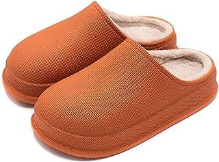 WHXJ Hombres Mujeres Zapatillas De Casa Antideslizantes Impermeables, Zapatillas De Casa Antideslizantes Impermeables De I...