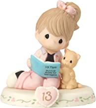 Precious Moments 162012B Growing In Grace, Age 13, Bisque Porcelain Figurine, Brunette Girl