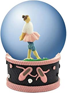 WL SS-WL-18475, 45mm Ballerina Girl in Blue Jeans and Tutu Water Globe Decorated