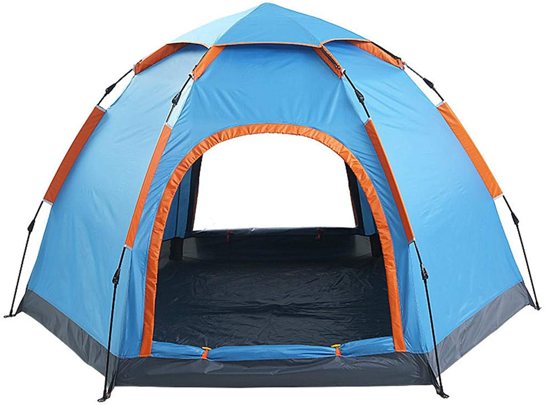 MODKOY Camping Zelt, 3-5 Personen Personen Personen Outdoor Automatische Geschwindigkeit öffnen Zelt sechseckigen Jurte Single-Layer Doppeltür Zelt B07GYMHQG4  Neues Produkt c43fc7