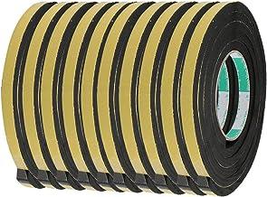 DealMux 10 stks 10mm Breed 8mm Dikke Enkelzijdige Verzegelende Schokbestendige Spons Tape Zwart 2 Meter Lang
