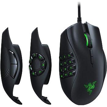 Razer Naga Trinity Mouse da Gaming MMO, MOBA, FPS Modulare con 3 Pannelli Laterali Intercambiabili, Sensore Ottico 5G da 16 000 DPI, 19 Pulsanti Programmabili, Chroma RGB