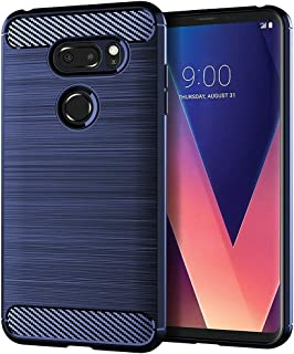 EGALO LG V30 / LG V30 Plus/LG V30S ThinQ/LG V35 / LG V35 ThinQ Case, Slim Thin Soft Skin Silicone Flexible TPU (Anti-Fingerprint) Anti-Scratches Protective Cases Cover for LG V30 (Navy)