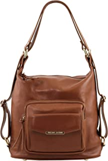 Tuscany Leather TLBag Borsa donna in pelle convertibile a zaino