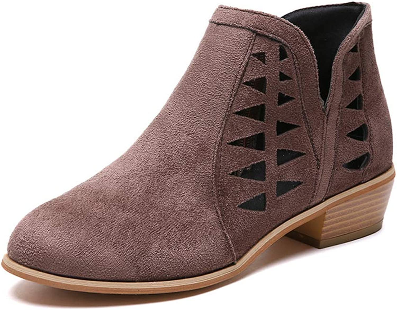 Zarbrina Womens Wedge Platform Ankle Boots Fashion Ladies Rubber Sole Cotton Fabic Zipper Up Breathable Walking shoes