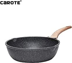 Carote 9.5 Inch Deep Frying Pan PFOA&PTFE-Free Stone-Derived Non-Stick Granite Coating From Switzerland