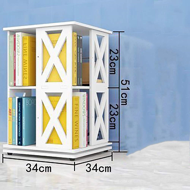 Entrega directa y rápida de fábrica ZJZ Estanteria Libreria blancoa, Diseño de de de rojoación de 360 Grados Librería Estante de Almacenamiento de Escritorio de Bambú, para Estantería de Escritorio para el hogar y la Oficina  para proporcionarle una compra en línea agradable