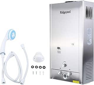 Ridgeyard 18L / 4.75GPM LPG Propane Gas Tankless Instant Hot Water Heater With Shower Head Indoor Bathroom Supplies
