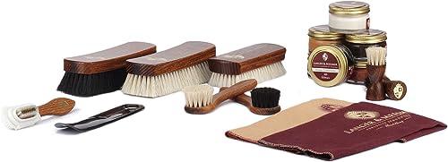 Langer & Messmer set de 17 pièces pour l´entretien e le soin professionnel de vos chaussures contenant crèmes de cira...