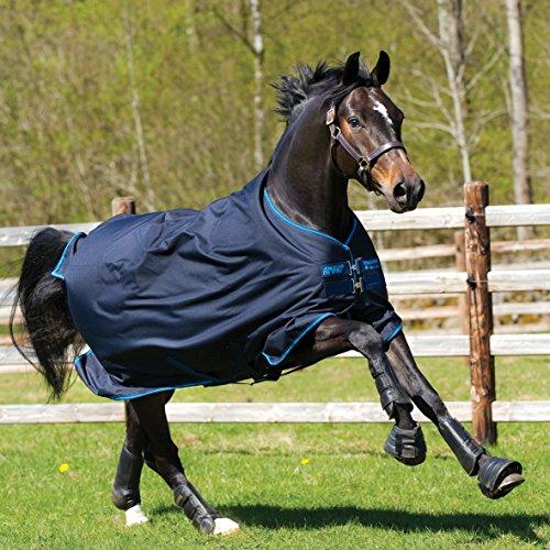 Horseware Amigo Bravo 12 - Winterdecke oder Regendecke 145cm 100g Füllung navy/navy & electric blue
