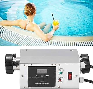 Termostato de piscina, Calentador de agua de inmersión eléctrico portátil de 3KW Termostato de piscina ajustable Calentado...