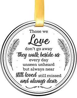 Elegant Chef Memorial Ornament- Those We Love Don't go Away They Walk Beside Us Everyday Unseen Unheard but Always Near- Christmas Keepsake- Remembrance Sympathy Gift- 3 inch Flat Stainless Steel