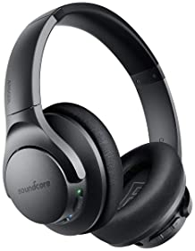 Anker Soundcore Life Q20 Hybrid Active Noise Cancelling Headphones, Wireless Over Ear Bluetooth Headphones, 40H Playt...