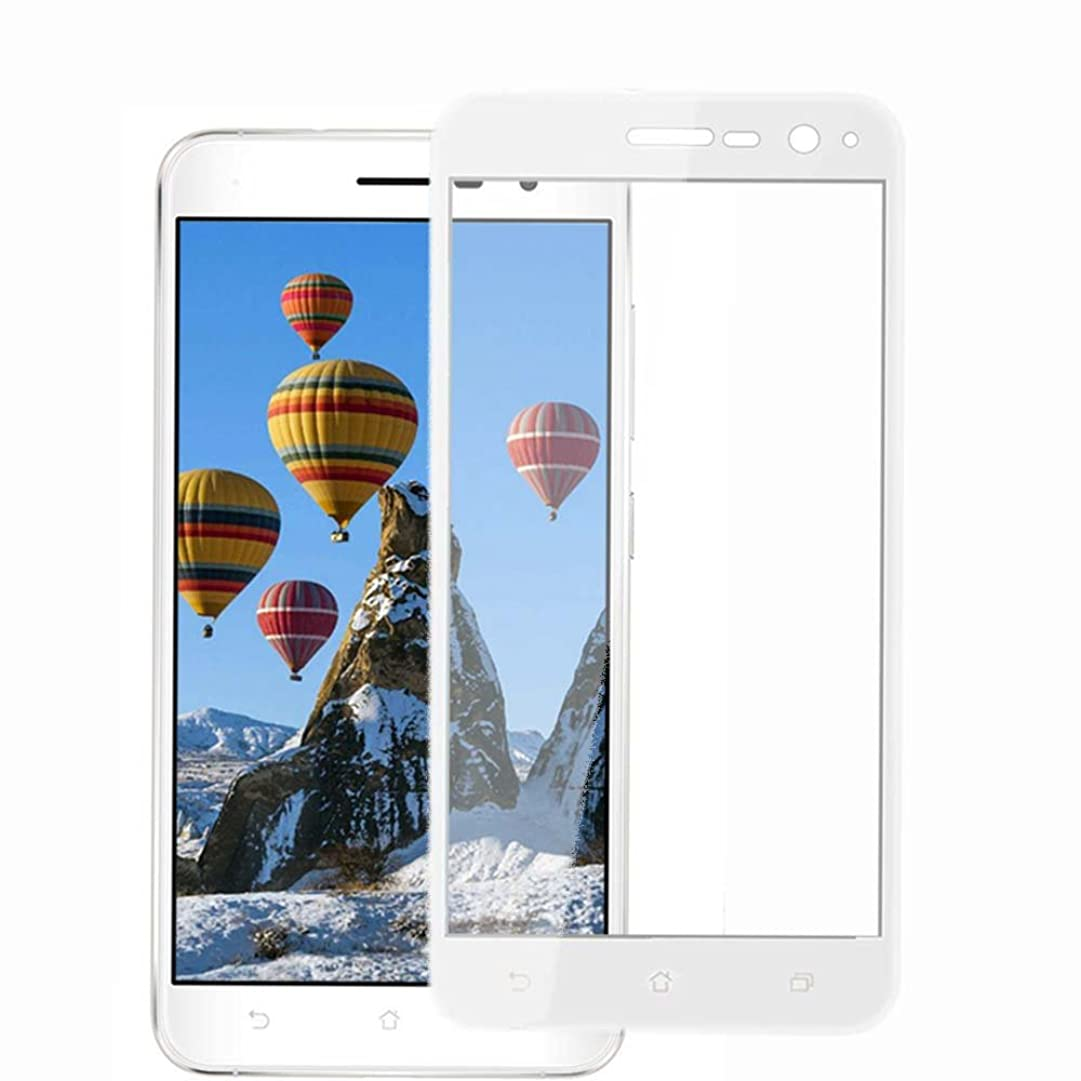 特別な鬼ごっこ慣れているASUS ZenFone 3 ZE520KL ガラスフィルム,EKKSI Asus ZenFone 3 ZE520KL 保護フィルム 炭素繊維加工 液晶全面保護 硬度9H 高透過率 防指紋 飛散防止 3D white