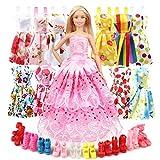 Eligara Vêtements de poupée et Accessoires pour poupée, comprennent 10 Tenues de fête de poupée, 1 Robe de Couture et 10...