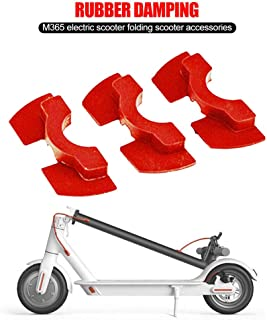 GAGAMO Scooter Rubber Vibration Dampers for Xiaomi Compatible for Mijia M365/M365 Pro/M187 Electric Scooter, Accessories Pack Parts Rubber Shock Absorber 3pcs (Red, 10 cm x 13 cm x 2 cm)