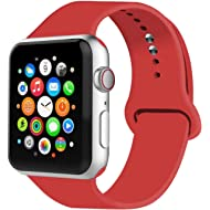 IYOU Sport Band Compatible with Watch Band 38MM 42MM 40MM 44MM, Soft Silicone Replacement Sport...
