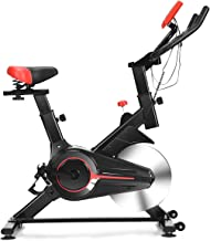 GOPLUS Stationary Bicycle, Indoor Cycling Bike, with Heart Rate Sensors, LCD Display,..