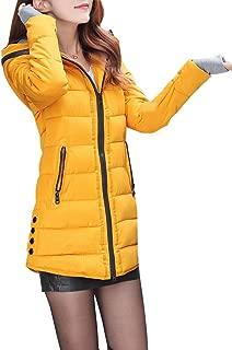 DA2S Down Jacket Coat Winter Hood Long Warm Padded Women